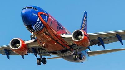 N224WN. Boeing 737-7H4. Southwest. Los Angeles. 160910.