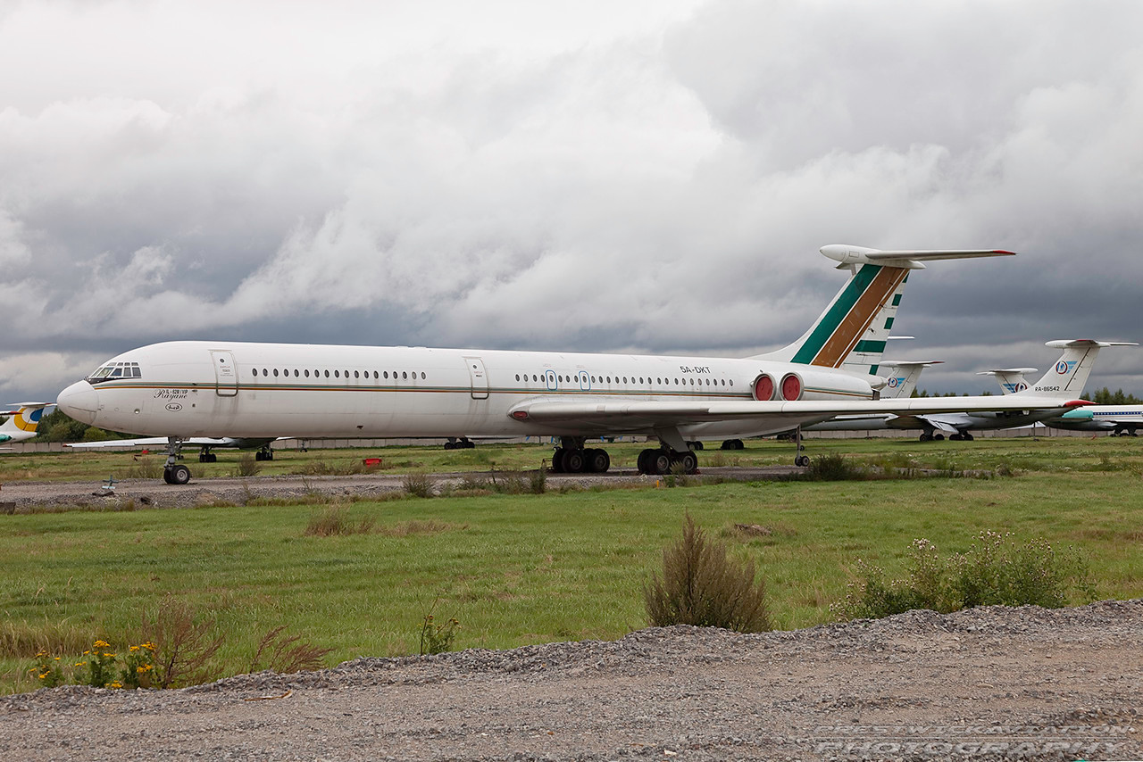 5A-DKT. Ilyushin Il-62M.  Jet Line International. Domodedovo. 200809.