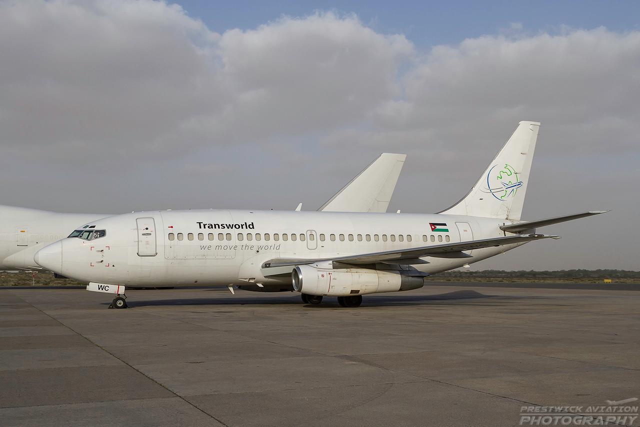 JY-TWC. Boeing 737-2T4C(Adv). Transworld Cargo. Sharjah. 280110.