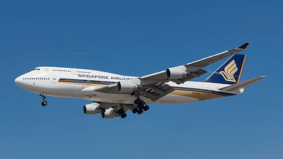 9V-SPO. Boeing 747-412. Singapore Airlines. Los Angeles. 210909.