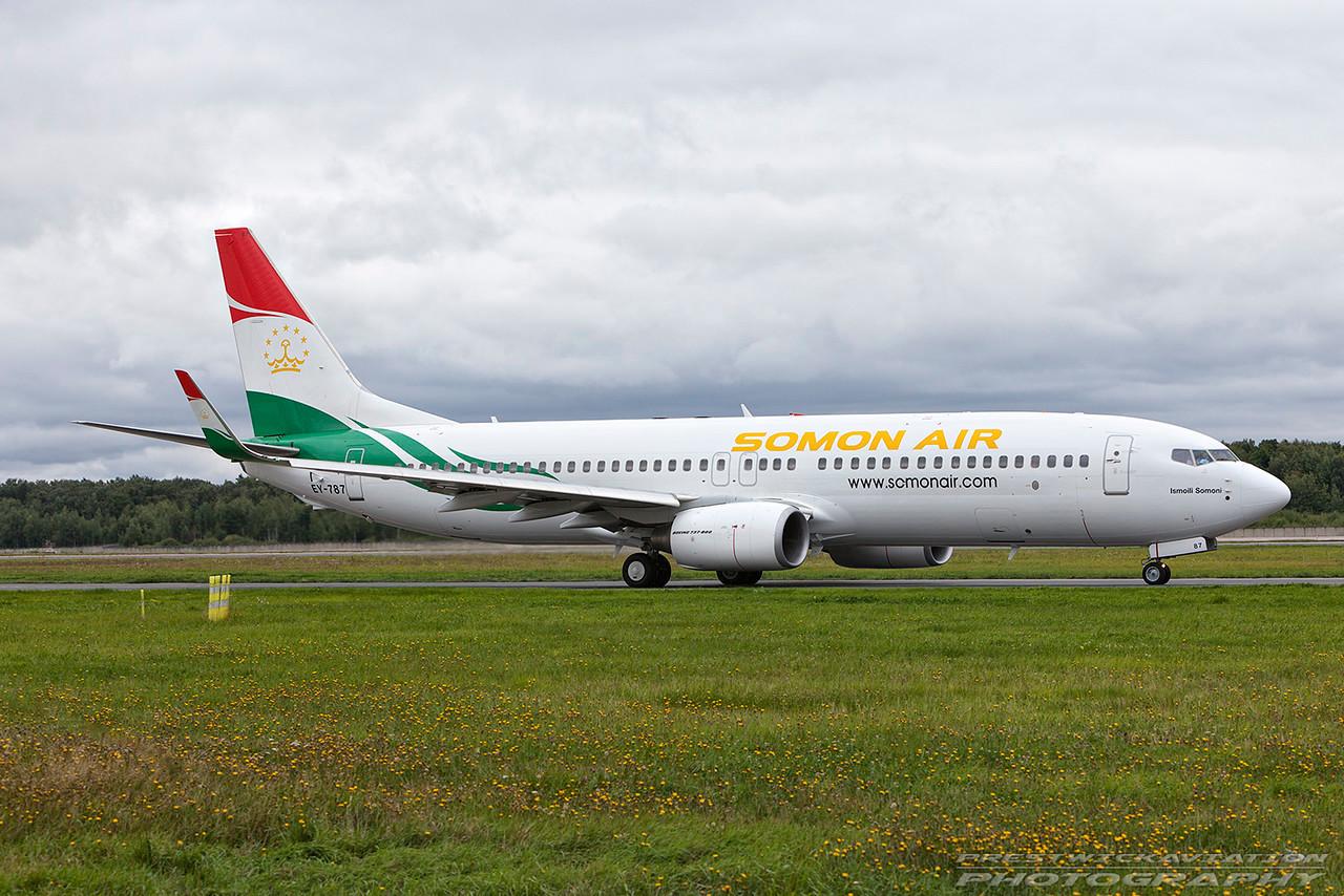 EY-787. Boeing 737-8GJ. Somon Air. Domodedovo. 200809.