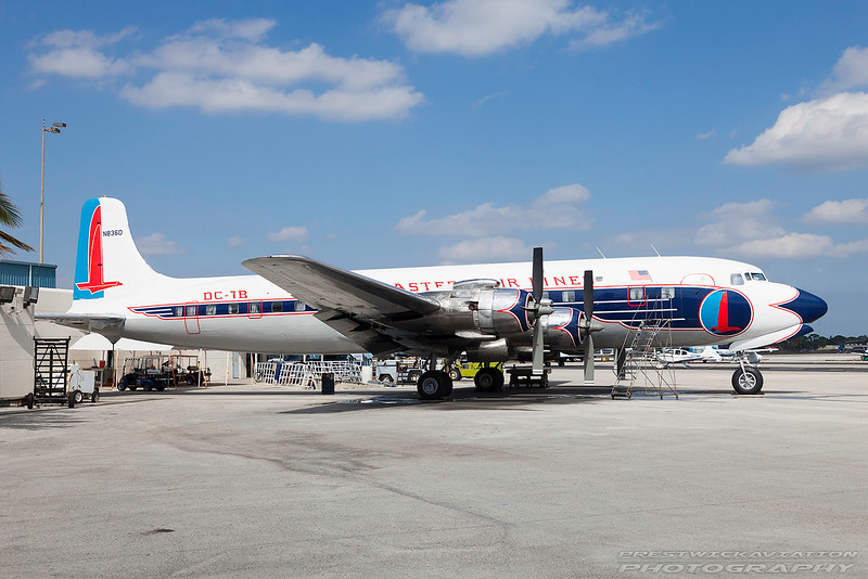 N836D. Douglas DC-7B. Historical Flight Foundation. Opa Locka. 160209.
