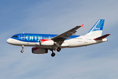 G-DBCG. Airbus A319-131. BMI. Heathrow. 301010.