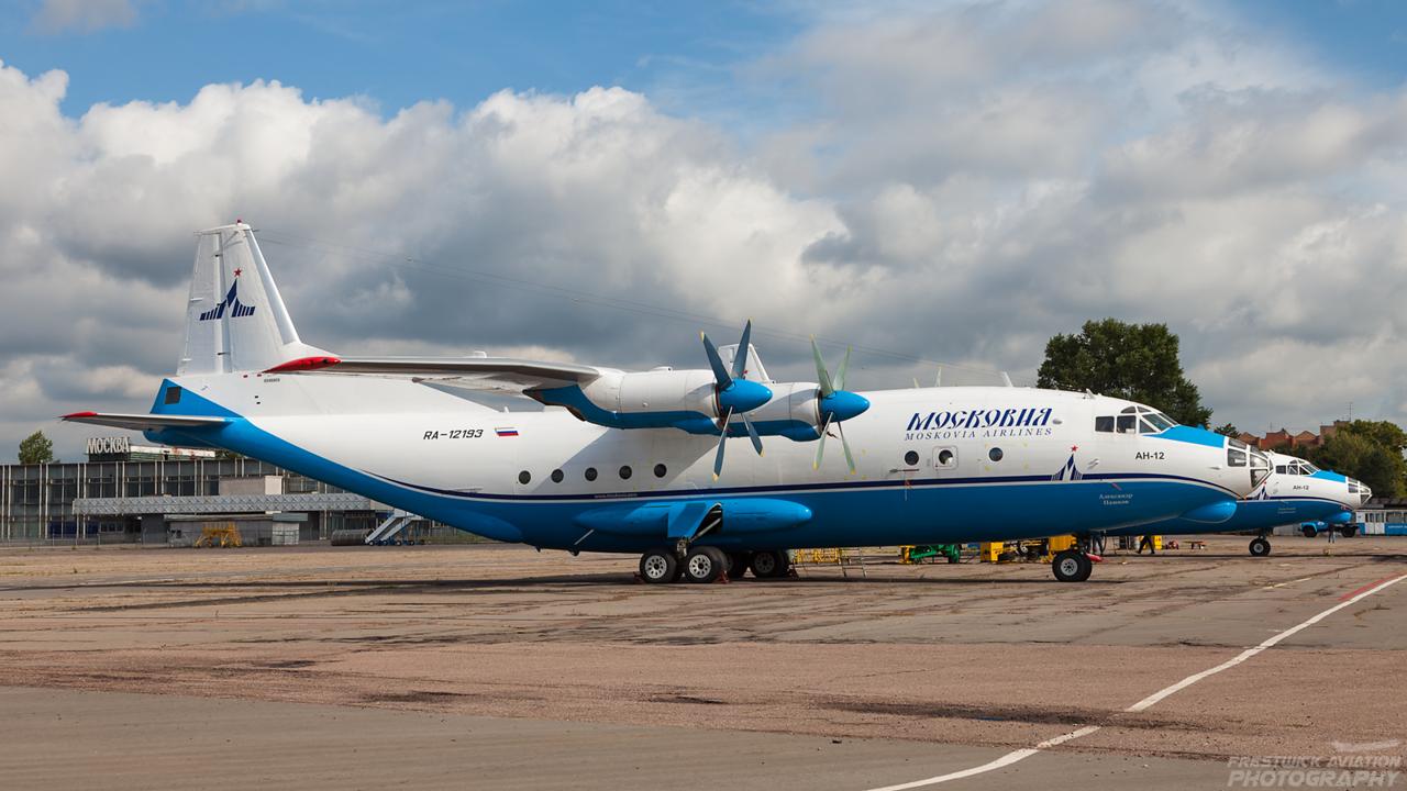 RA-12193. Antonov An-12BK. Moskovia Airlines. Bykovo. 190809.