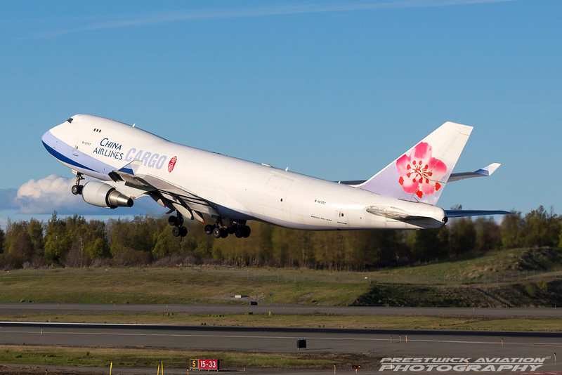 B-18707. Boeing 747-409F/SCD. China Airlines Cargo. Anchorage. 070516.
