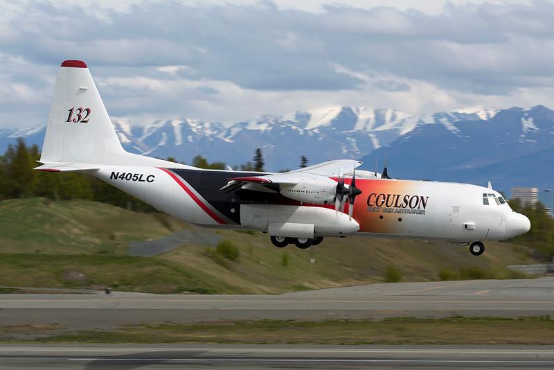 N405LC. Lockheed L-100-30 Hercules. Coulson Air Tanker. Anchorage. 100516.