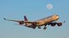 G-VGAS. Airbus A340-642. Virgin Atlantic. Los Angeles. 030515.