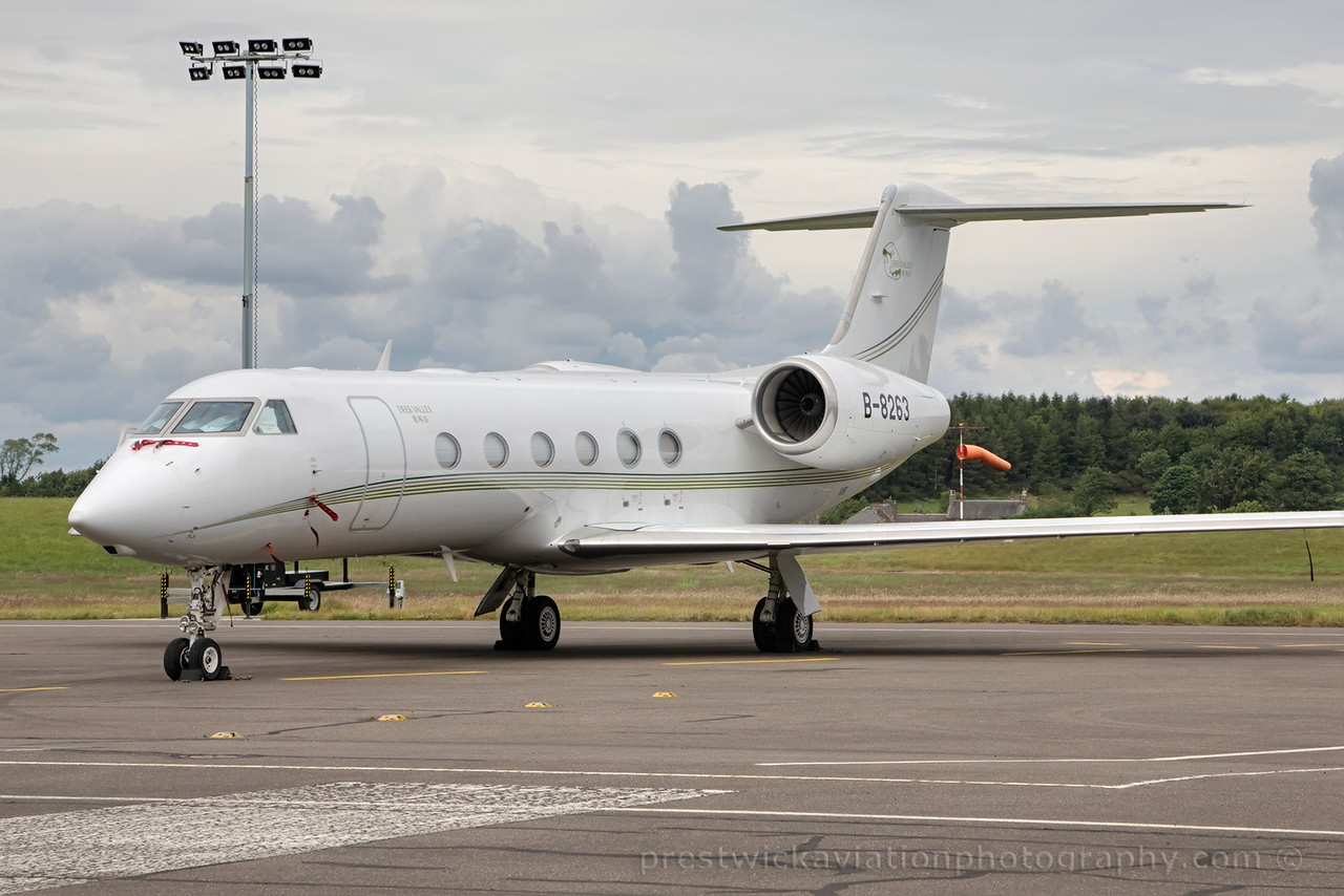 B-8263. Gulfstream Aerospace G-IV. Private. Edinburgh. 060715.