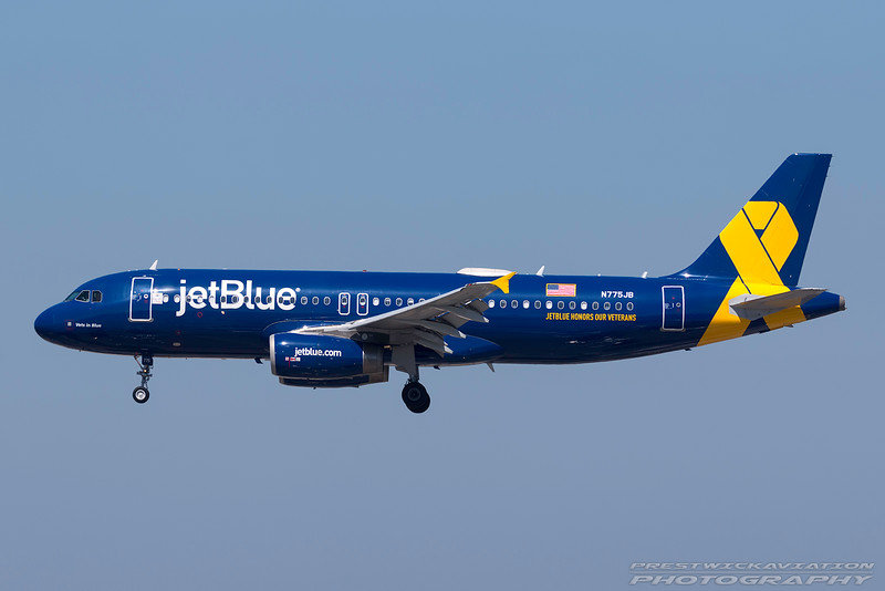 N775JB. Airbus A320-232. Jet Blue. Los Angeles. 160916.
