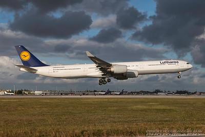 D-AIHV. Airbus A340-642. Lufthansa. Miami. 281116.
