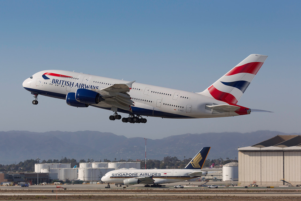 G-XLEJ. Airbus A380-841. British Airways. Los Angeles. 250916.