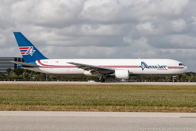 N319CM. Boeing 767-338ER(BDSF). AmeriJet. Miami. 281116.