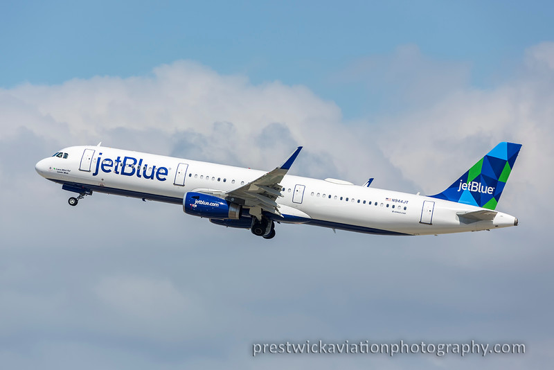N944JT. Airbus A321-231. Jet Blue. Los Angeles. 160915.