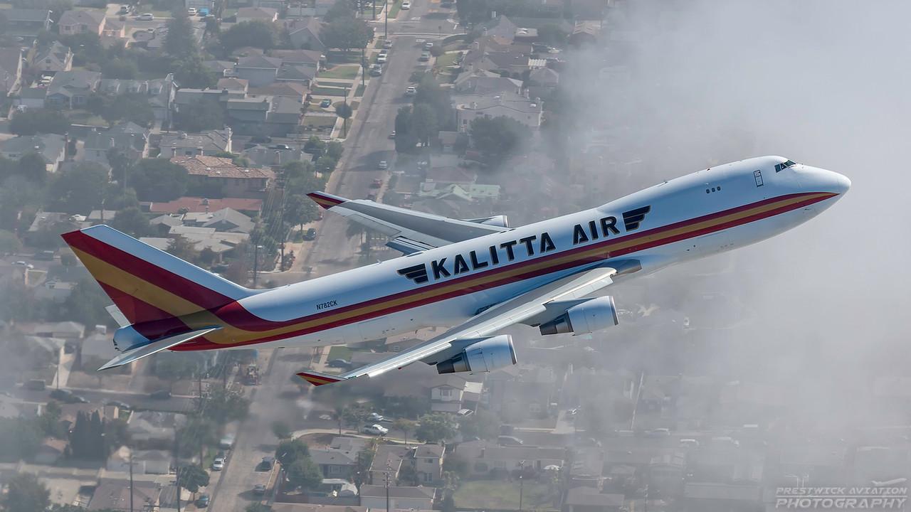 N782CK. Boeing 747-4HQF(ER). Kalitta Air. Los Angeles. 180916.
