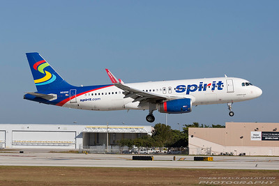 N618NK. Airbus A320-232. Spirit Airlines. Fort Lauderdale. 271116.