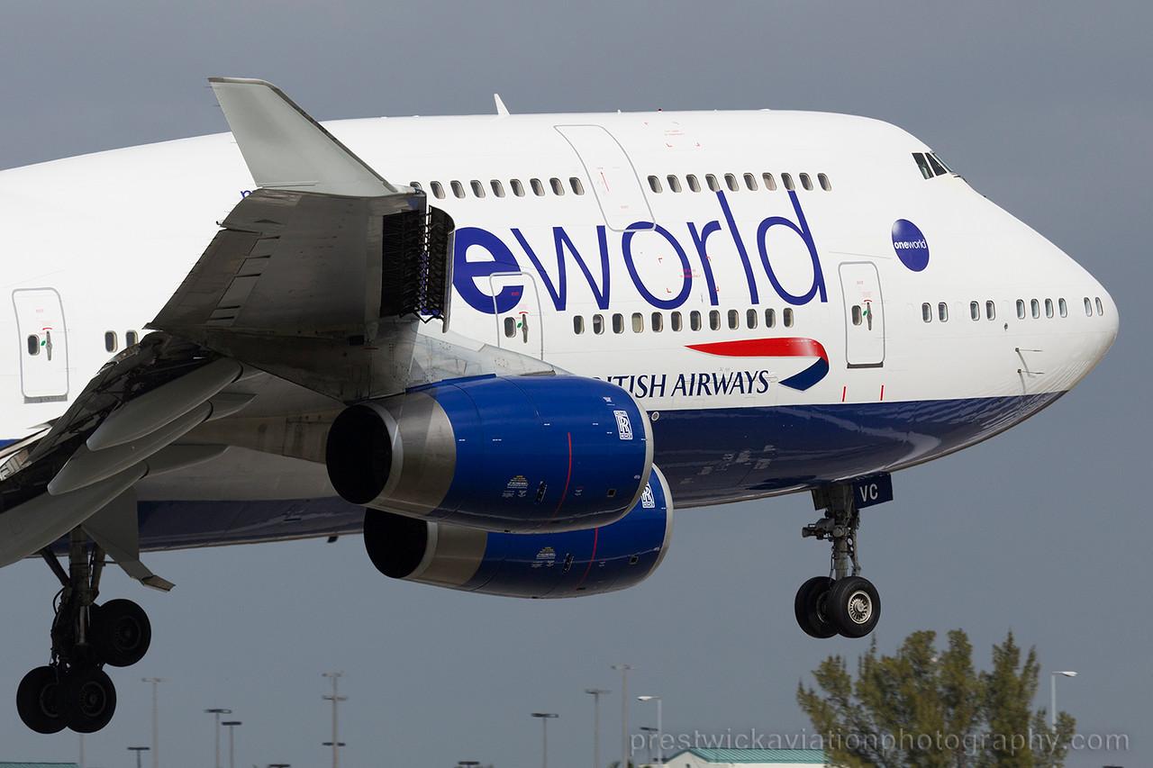 G-CIVC. Boeing 747-436. British Airways. Miami. 060215.