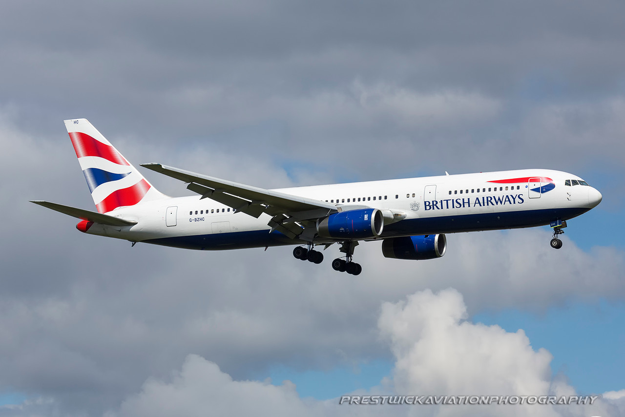 G-BZHC. Boeing 767-336/ER. British Airways. Heathrow. 230416.