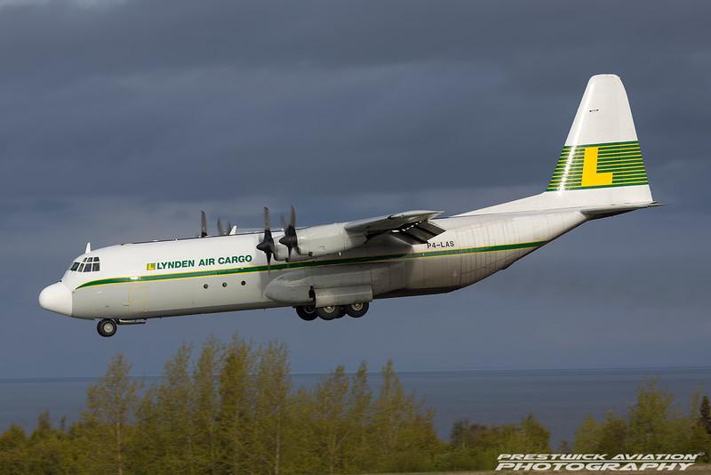 P4-LAS. Lockheed L-100-30 Hercules. Lynden Air Cargo. Anchorage. 100516.
