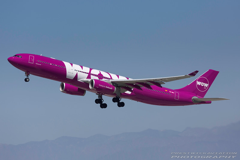 EC-MIN. Airbus A330-343. WOW Air. Los Angeles. 170916.