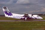 C-GEOZ. De Havilland Canada DHC-8-202 Dash 8. Bombardier. Glasgow. September. 1998.