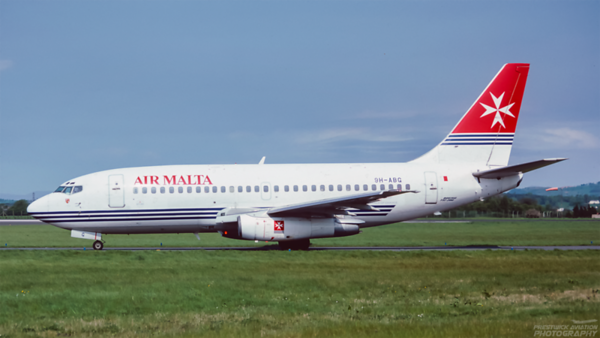 9H-ABG. Boeing 737-2Y5/Adv. Air Malta. Glasgow. June. 1999.