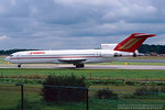 G-BNNI. Boeing 727-276/Adv. Sabre Airlines. Manchester. August. 1998.