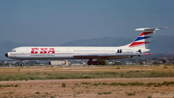OK-JBJ. Ilyushin Il-62M. CSA. Palma. August. 1993.