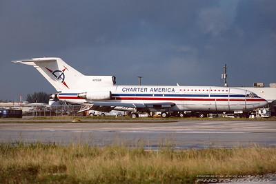 N723JE. Boeing 727-44F. Charter America. Miami. December. 2000.