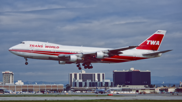 N93104. Boeing 747-131. Trans World Airlines. Los Angeles. February. 1996.
