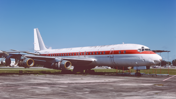 N245HG. Douglas DC-8-53. Untitled. Opa Locka. June. 1993.