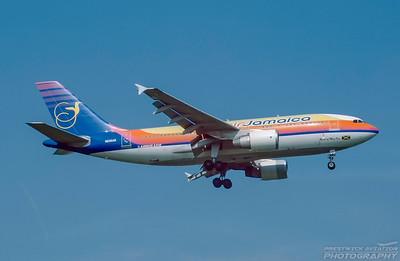 N835AB. Airbus A310-324ET. Air Jamaica. Heathrow. April. 1999.
