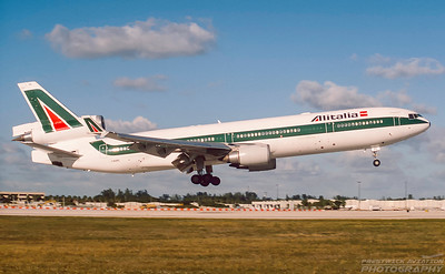 I-DUPC. McDonnell Douglas MD-11. Alitalia. Miami. February. 2001.
