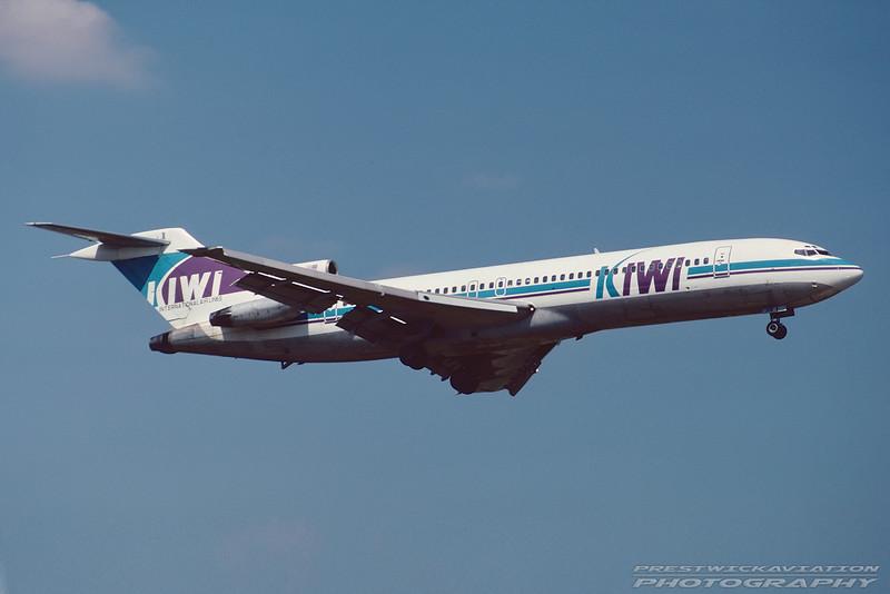 N358PA. Boeing 727-225/Adv. Kiwi International. Miami. 1993.