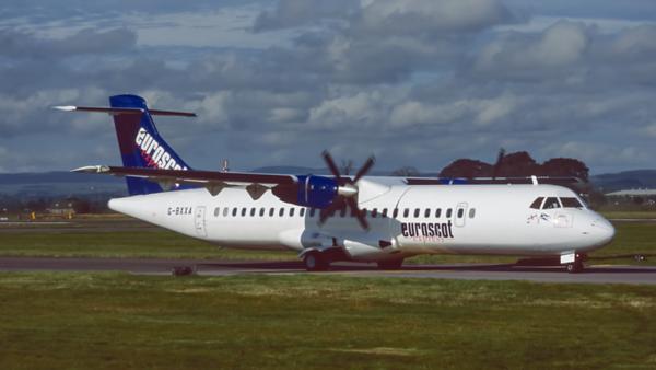 G-BXXA. ATR ATR-72-202. Euroscot Express. Glasgow. August. 1998.