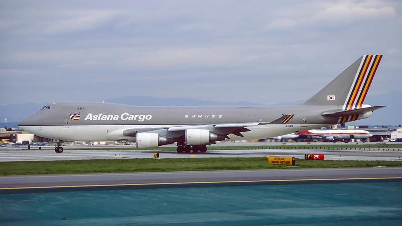 HL7419. Boeing 747-48EF/SCD. Asiana Cargo. Los Angeles. February 1996.