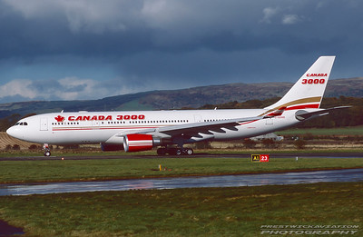 C-GGWB. Airbus A330-202. Canada 3000. Glasgow. October. 1998.