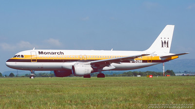 G-OZBB. Airbus A320-232. Monarch. Glasgow. May. 1999.