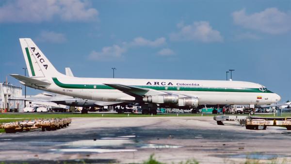 HK-3746X. Douglas DC-8-53(F). ARCA. Miami. June. 1993.