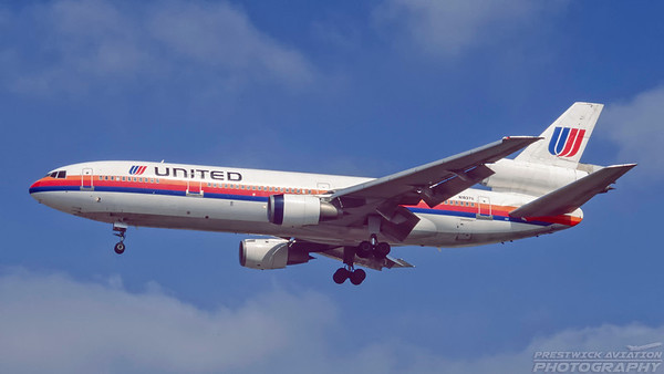 N1837U. McDonnell Douglas DC-10-10. United. Los Angeles. September. 1997.