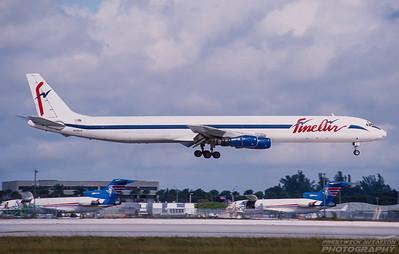 N29UA. Douglas DC-8-61F. Fine Air. Miami. December. 2000.