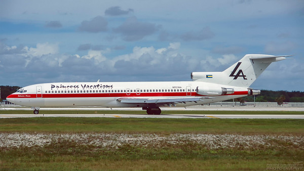 N553NA.  Boeing 727-2J7/Adv. Laker Airways. Fort Lauderdale. October. 1996.