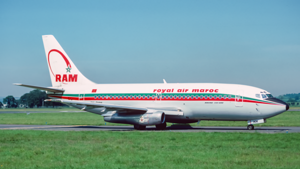 CN-RMM. Boeing 737-2B6C/Adv. Royal Air Moroc. Glasgow 1980`s.
