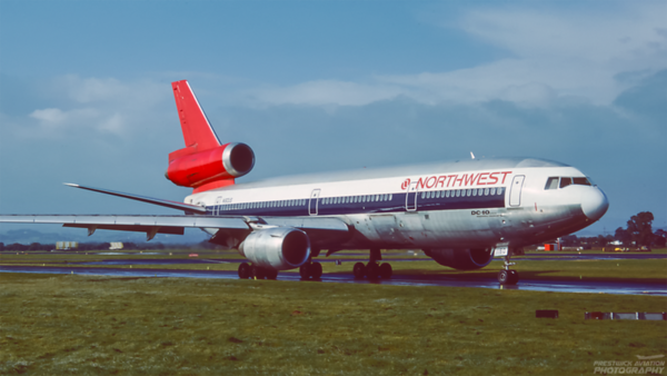 N160US. McDonnell Douglas DC-10-40. Northwest Airlines. Glasgow. October. 1991.