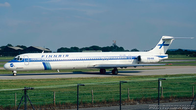 OH-LMH. McDonnell Douglas MD-82. Finnair. Manchester. August. 1997.