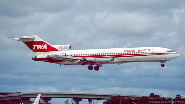 N84357. Boeing 727-231/Adv. TWA. Fort Lauderdale. October. 1996.