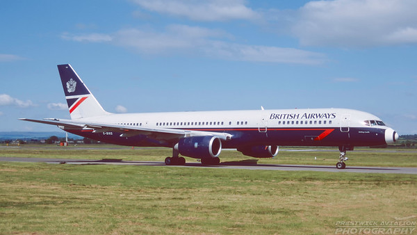 G-BIKG. Boeing 757-236. British Airways. Glasgow. April. 2000.
