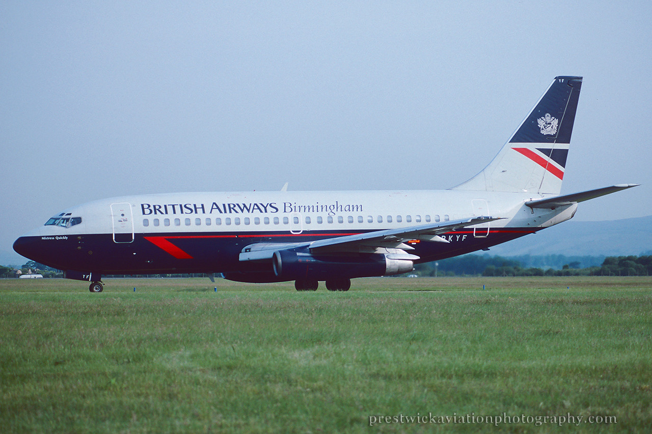 G-BKYF. Boeing 737-236/Adv. British Airways. Glasgow. July 1994.