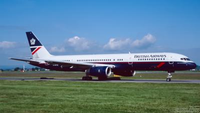 G-BPEE. Boeing 757-256. British Airways. Glasgow. June. 1999.