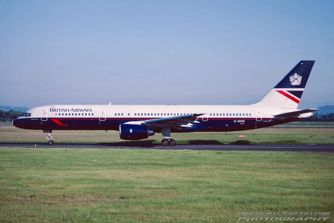 G-BIKR. Boeing 757-236. British Airways. Glasgow. June 1991.