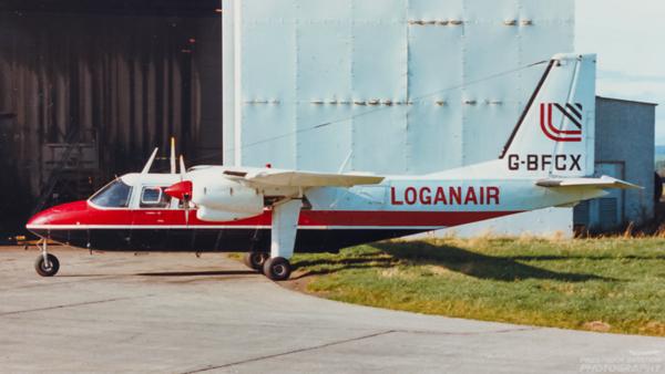 G-BFCX. Britten-Norman BN-2A-26 Islander. Loganair. Glasgow. 1980`s.